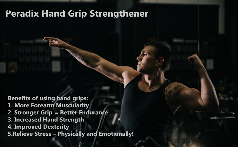 Hand Grip Strengthener Workout Kit, 6 Pack Forearm Grip Adjustable Resistance Hand Gripper