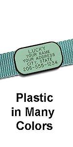 Plastic Collar Tag