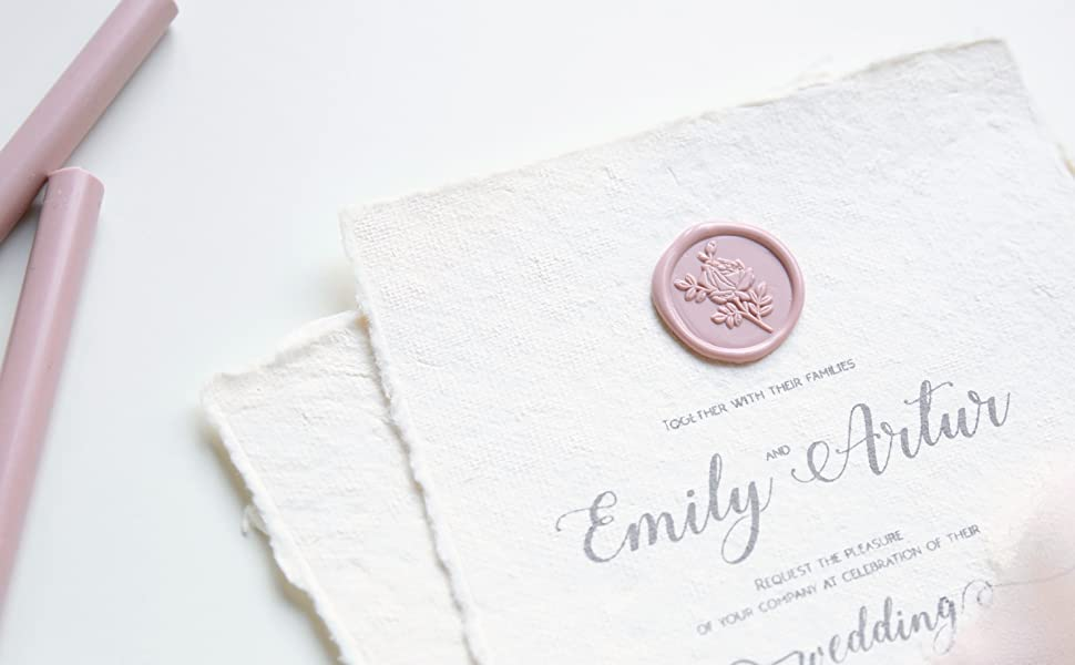 sealing wax seal stamp wedding invitations wedding place card gift wrapping DIY craft floral wreath