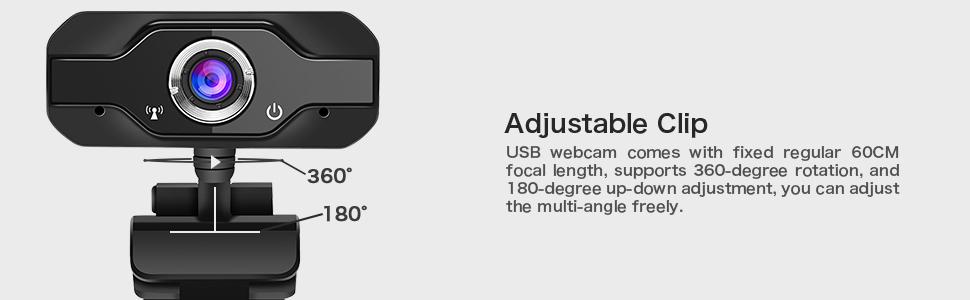 web camera with adjustable clip