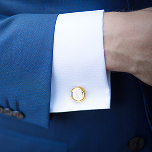 Button Shirt Initials Alphabet Letter A-Z with Gift Box
