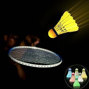 led badminton shuttlecocks