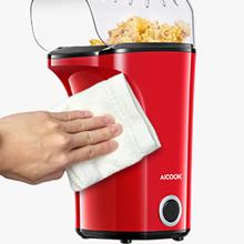 Aicook Palomitero, 1400W Automática Máquina de Palomitas con Gran Capacidad, Aire Caliente Sin Grasa Aceita, Tapa Removible y Libre de BPA, Rojo: Amazon.es: Hogar