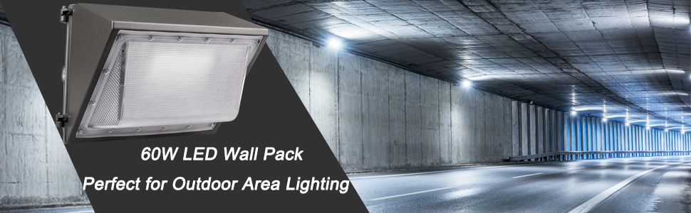Dakason led wall pack with dusk to dawn photocell for outdoor lighting