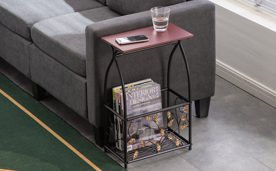 Premium Sofa Side Table End Table for Livingroom Bedroom, Multifunctional Bathroom Table with Tissue