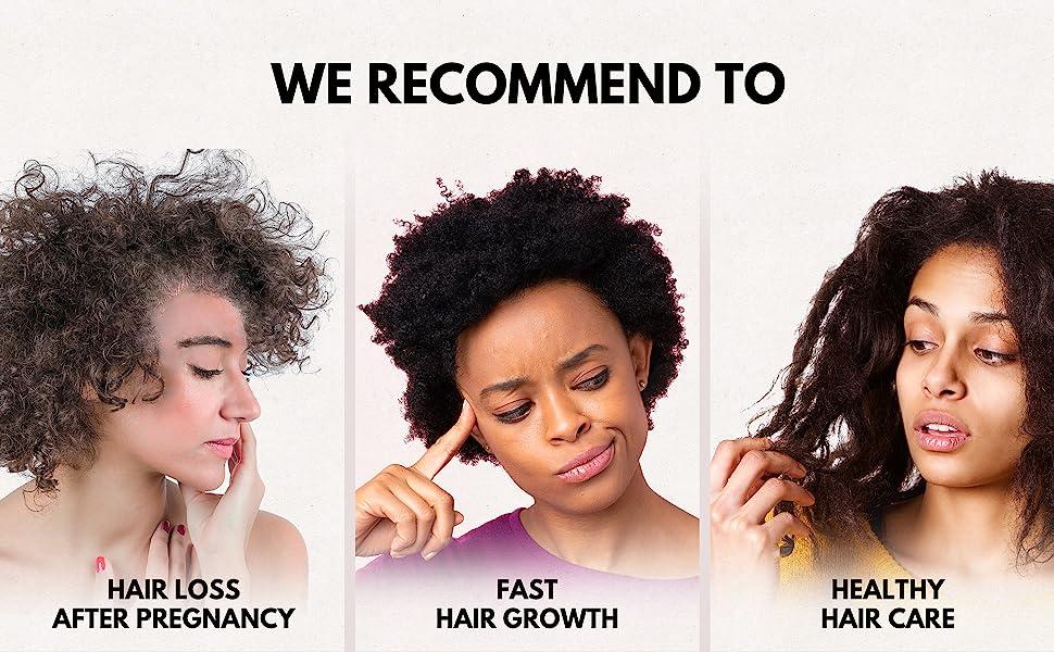 frizzy hair detangler spray hair loss treatment natural hair product for african american women