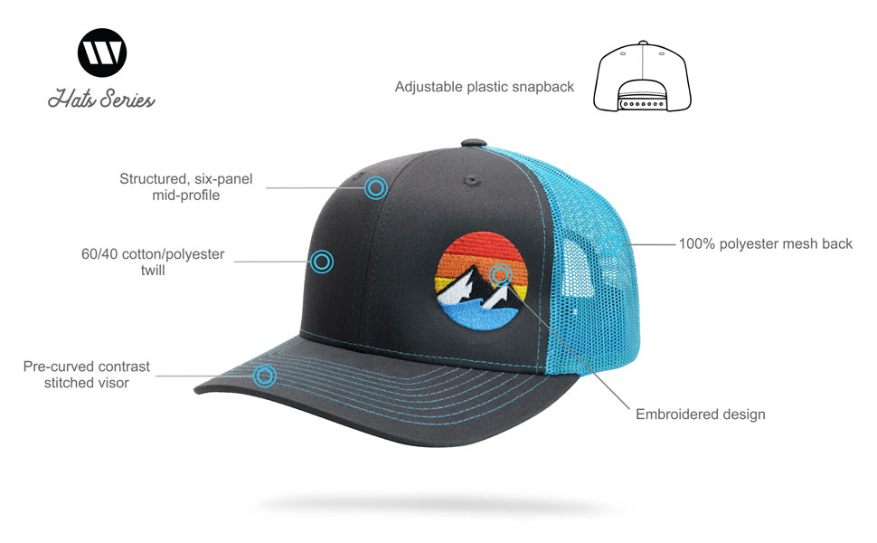 Explore the outdoors trucker hat specs