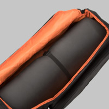 One large compartment for a yoga mat thick or thin
