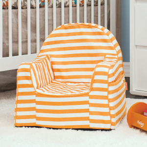 PKolino Little Reader Toddler Dark Grey with Orange Piping/  Childrens Chair One Size