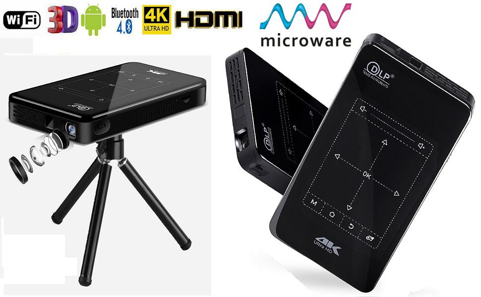 mini dlp 4k wifi smart bluetooth projector