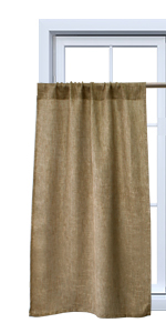 burlap curtains 45 inch