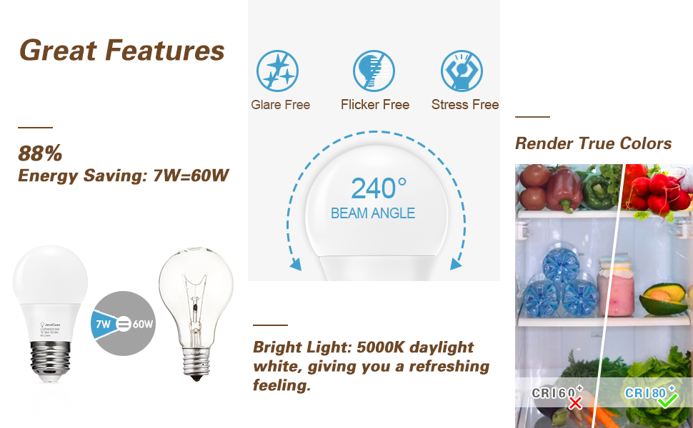 a15 light bulbs for fridge