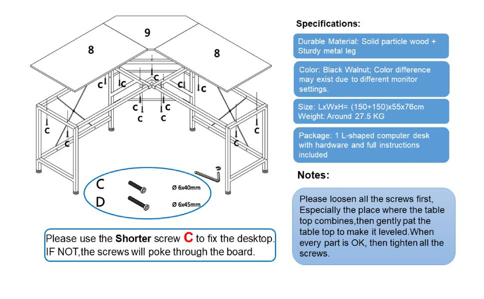 Large PC Laptop Table