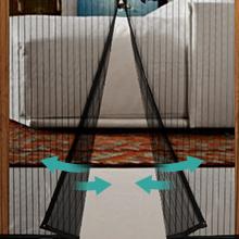 Homitt Mosquitera magn¨¦tica para puerta, Mosquitera Puerta, con cortina de malla resistente con 26 imanes, parte superior reforzada antidesgarro, gancho y bucle de marco completo (80 x 200cm): Amazon.es: Bricolaje y herramientas