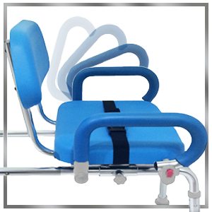 platinum health carousel shower bench with padded pivoting arm rests armrests