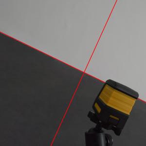 Nivel l/áser T01 Nivel l/áser de dos l/íneas con haz rojo de 15 m con soporte tipo L
