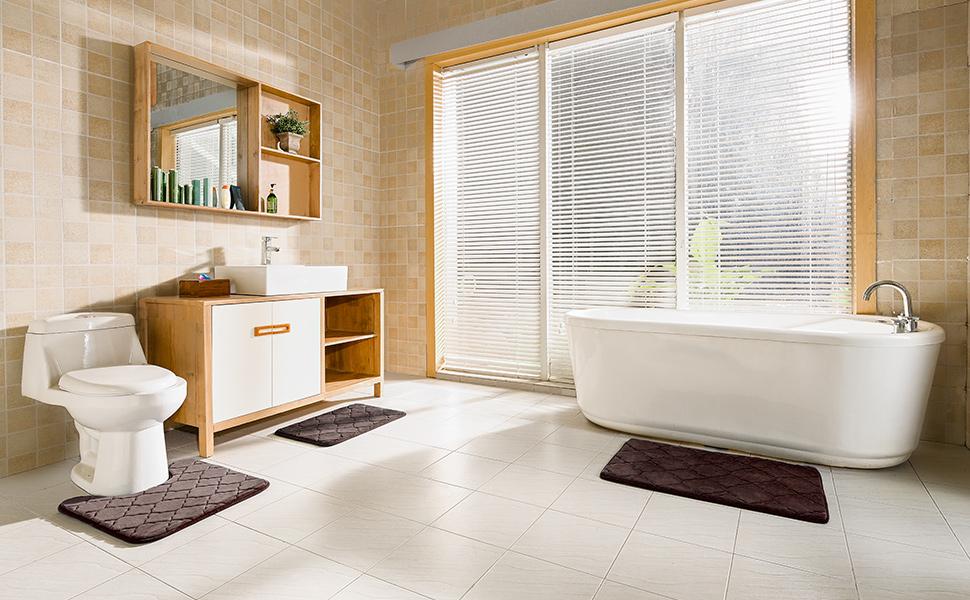 memory foam bathroom rugs