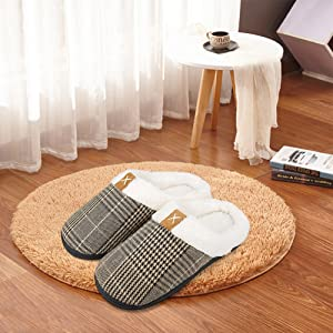 woman casual shoes lightweight breathable mesh knit slippers slip on flexible warm slippers brown