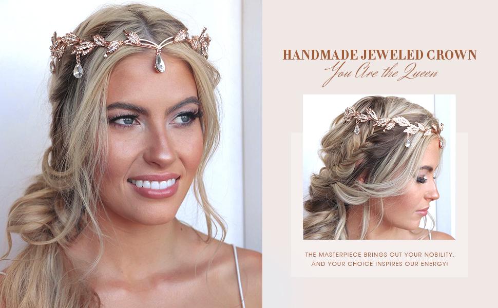 healing crown bride. gypsy bride black pearls Lagen wedding crown natural bride free spirit bridal headpiece natural quartz pieces