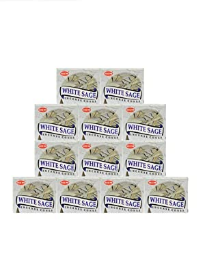 White Sage Hem Incense Cones 3 x 10 = 30 Cones Smudging, Cleansing FREE SHIPPING