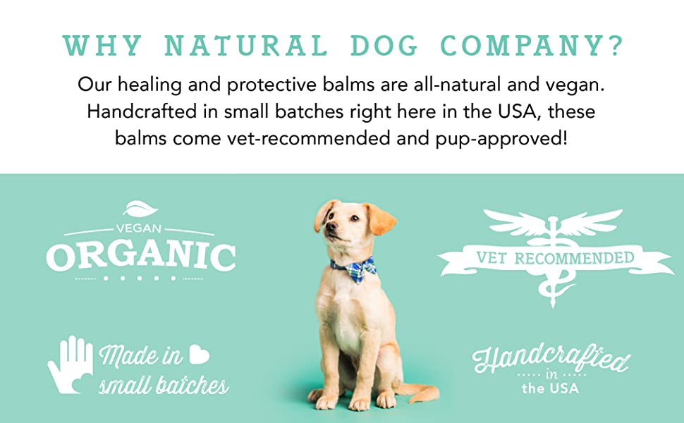 Natural Dog Company - Paw Soother | Heals Dry, Cracked, Irritated Dog Paw Pads | Organic, All-Natural Ingredients, Easy to Apply