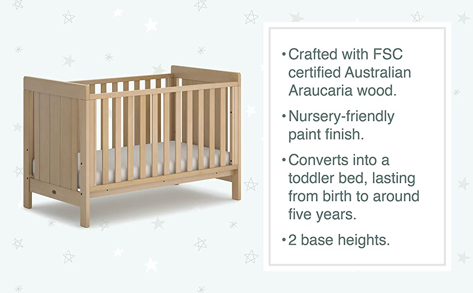 boori baby cot bed crib infant sleep bedroom nursery furniture wood sustainable solid