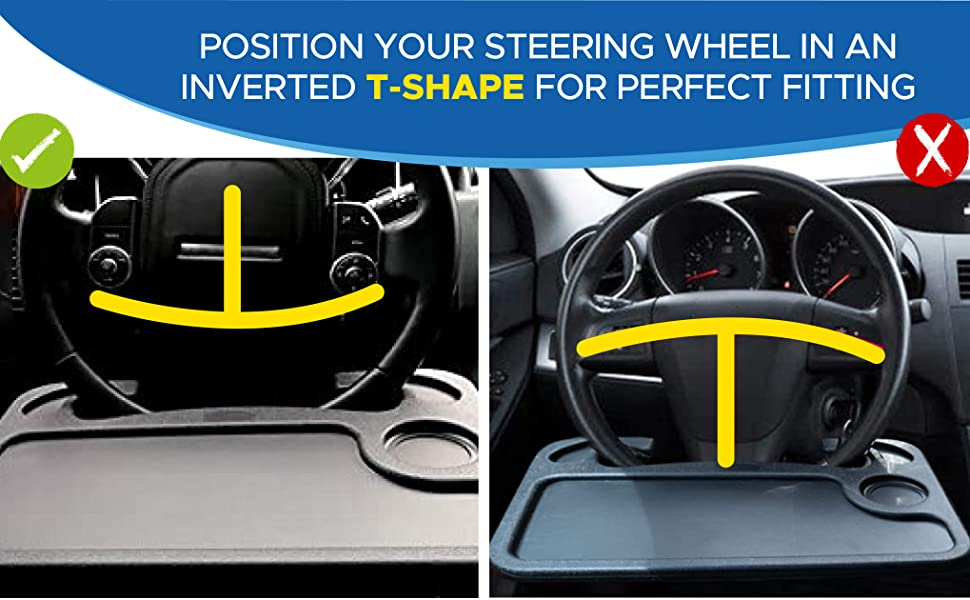 steering wheel desk fit most cars traveling tray portable table