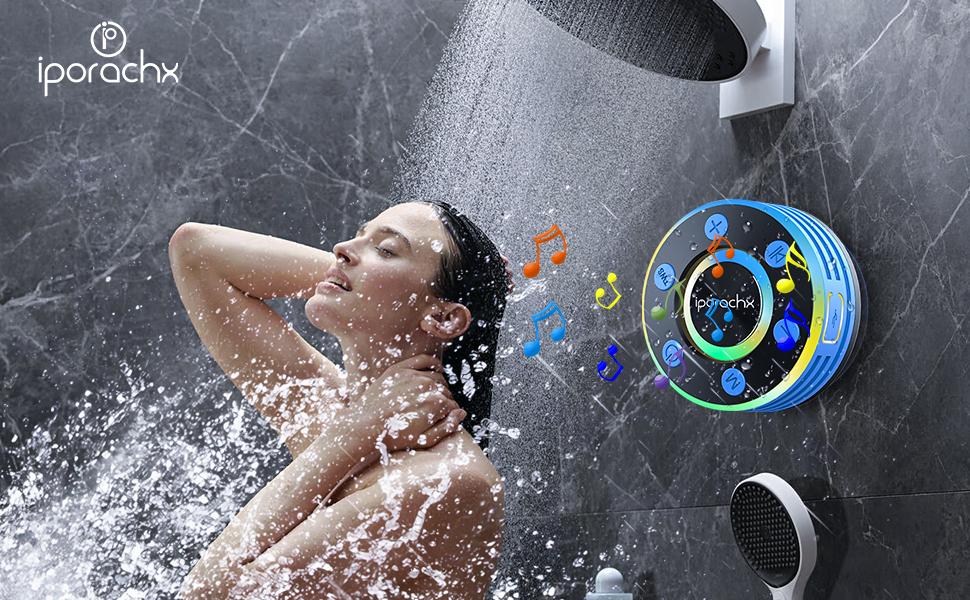 altavoz bluetooth ventosa,altavoz ducha impermeable,altavoz ventosa ducha