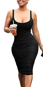 One Shoulder Sleeveless Bodycon Party Club Midi Dress