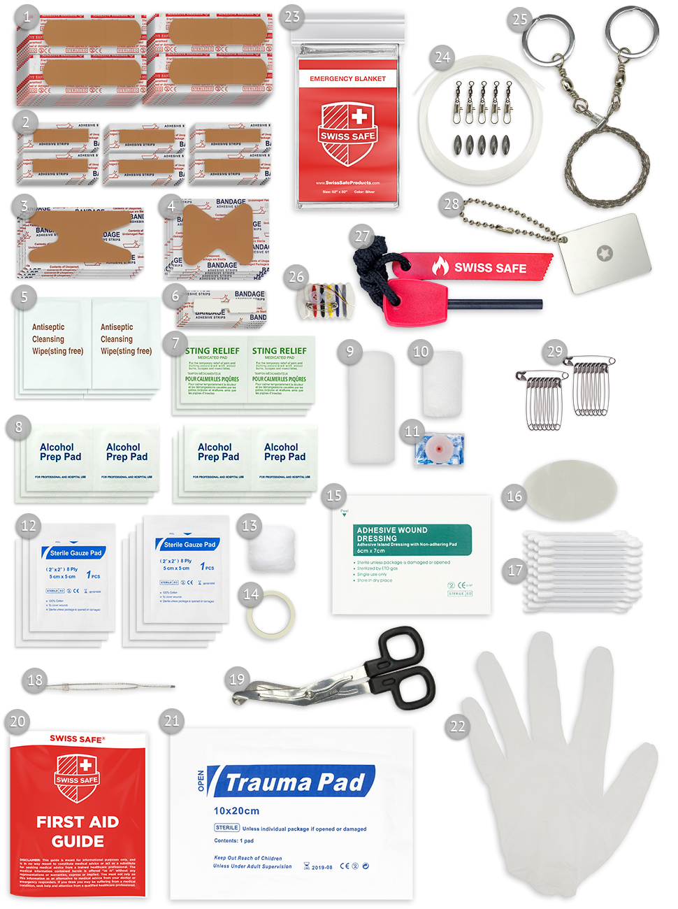 First Aid Kit Outdoor and Survival  Items