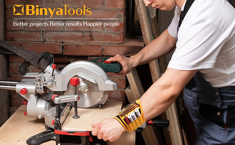 BinyaTools Magnetic Wristband Support Carpenter Workshop Professional DIY Table Saw