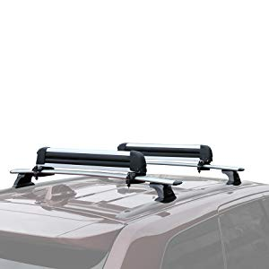 Autekcomma Heavy Duty Roof Rack CrossBars for 2015-2018 Mercedes Benz GLE 350,Anti-Corrosion ONLY FIT Original EXISTING Side Rail Silvery Painting with Anti-Theft Locks