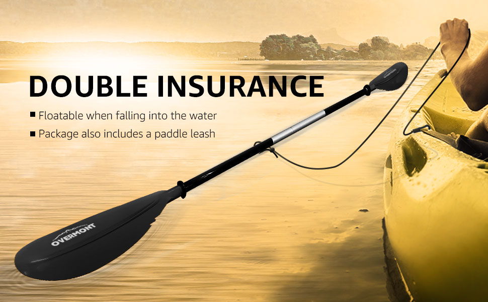 Adjustable Kayak Paddle Boating Aluminium Boat Oars Water Paddles Canoe UK A5L9