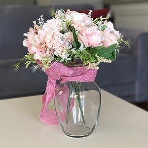 light pink flowers artificial silk flowers arrangements weddiing bouquet