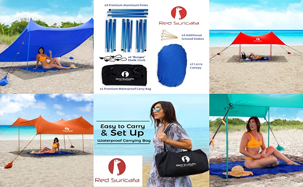 canopies in 4 colors and components in the bag