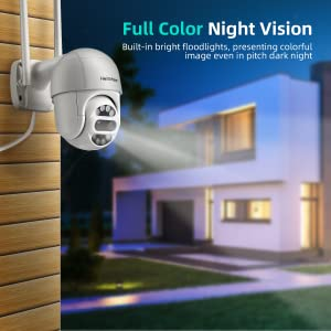 Security Camera with Floodlights_Full Color Night Vision