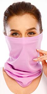 Built-in Filter Pocket Unisex Face Covering, Bandana for Women & Men, Lightweight Cool Neck Gaiter