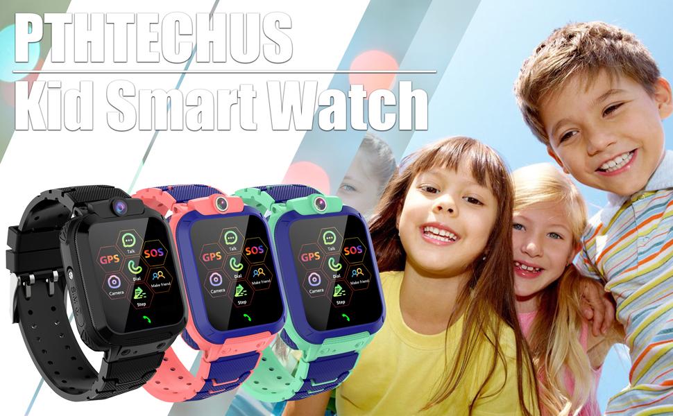Kids GPS Smartwatch GPS Tracker for Boys Girls Smart Watch Phone SOS Childrens Toys Game Watch