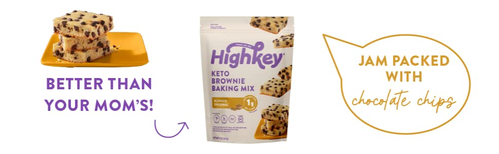 highkey snacks keto food blondie brownkie baking mix and dessert keto friendly no sugar chocolate
