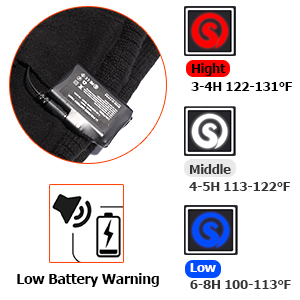 Heated Glove Liners for Men Women,Rechargeable Electric Battery Heating Riding Ski Snowboarding