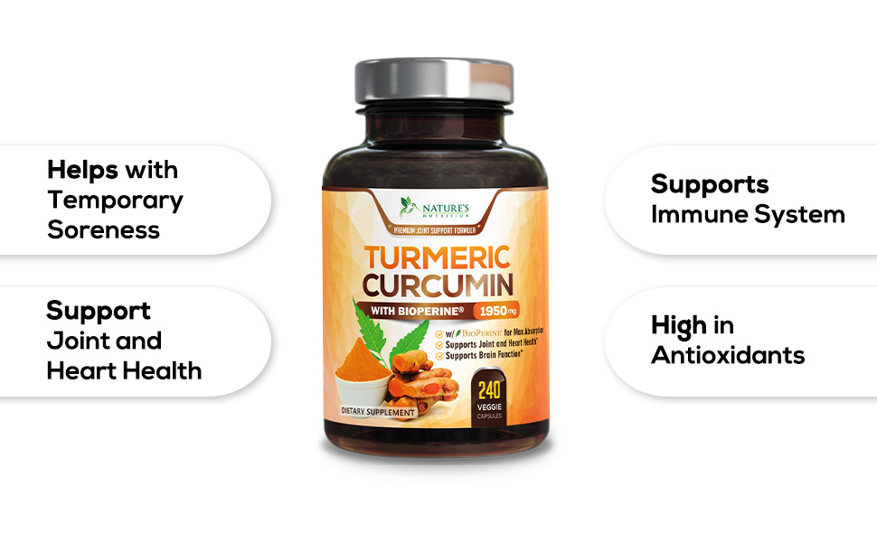 Turmeric curcumin with bioperine black pepper
