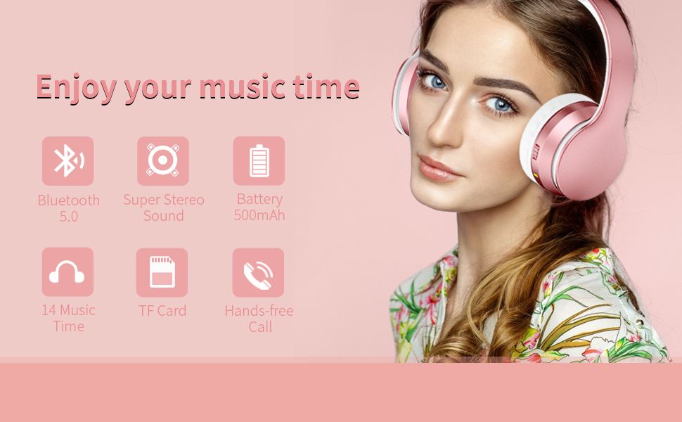 Foldable Over-Ear Bluetooth Headphones