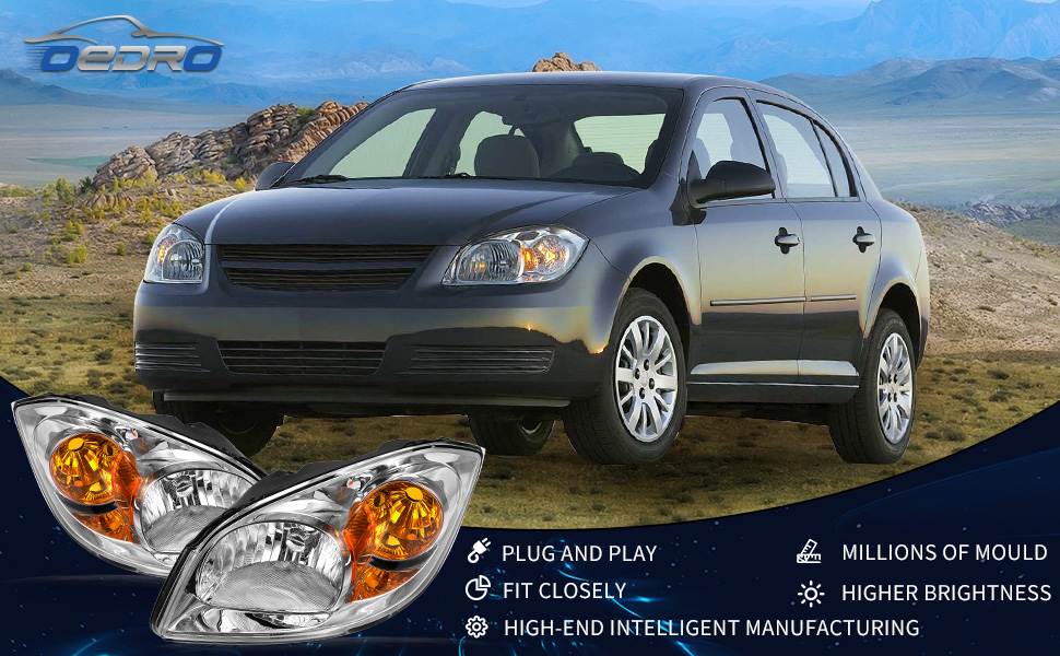 2-Year Warranty oEdRo Headlights Assembly Replacement for 2005 ...