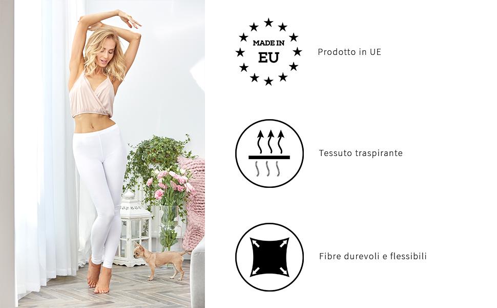 Merry Style Leggings Lunghi Pantaloni Donna MS10-263 M/élange Scuro, XXL//172