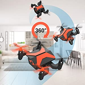 Mini Drone for Kids, RC Helicopter Portable Foldable Drone for Beginners