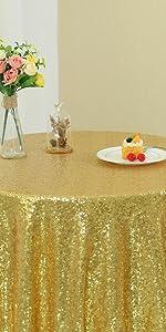 Zdada The Yard Pailletten Stoff Gold Pailletten Tischdecke Pailletten Tischfahne Pailletten Hintergrund Tuch 90 Cm Breit X 120 Cm Lang 1 Yard Küche Haushalt
