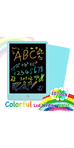 Color : Pink, Size : 10 inches ADPTT-Office Colorful 10 Inches LCD Writing Tablet Electronic Doodle Pads Drawing Board