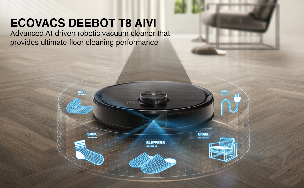 YRQ 6Pcs for DEEBOT OZMO T8 T8 AIVI Robot Vacuum Cleaner Dust Bag Replacement Accessories Parts Kits
