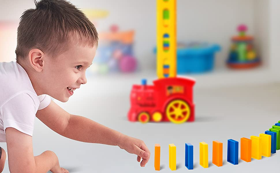 domino game train electric toy