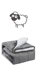 buzio sherpa weighted blanket